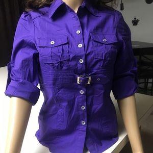 Tops - Purple Button Down Blouse